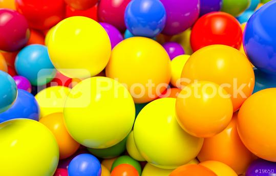 many colored plastic balls in a children
