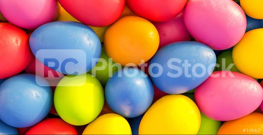 Many colorful easter eggs for Easter on a pile - 3D Rendering  : Stock Photo or Stock Video Download rcfotostock photos, images and assets rcfotostock   RC-Photo-Stock.: