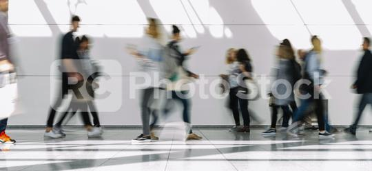 Many people go to trade fair or shopping mall   : Stock Photo or Stock Video Download rcfotostock photos, images and assets rcfotostock | RC-Photo-Stock.: