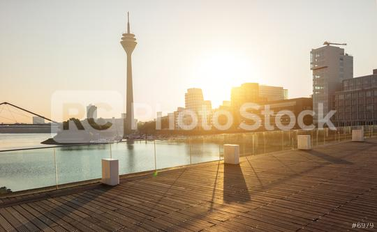 Media harbor at dusseldorf in the morning light  : Stock Photo or Stock Video Download rcfotostock photos, images and assets rcfotostock | RC-Photo-Stock.:
