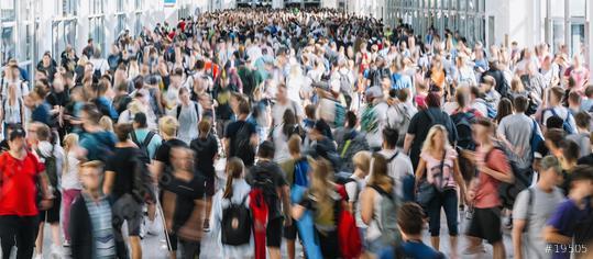 Menschenmenge mit vielen anonymen Leuten auf Messe  : Stock Photo or Stock Video Download rcfotostock photos, images and assets rcfotostock   RC-Photo-Stock.:
