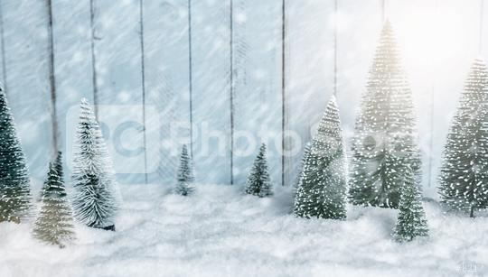 Miniature snowy winter Forest Landscape - christmas concept image  : Stock Photo or Stock Video Download rcfotostock photos, images and assets rcfotostock | RC-Photo-Stock.:
