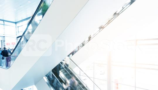 modern architecture with blurred people at a escalator  : Stock Photo or Stock Video Download rcfotostock photos, images and assets rcfotostock | RC-Photo-Stock.: