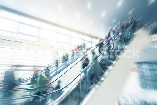 modern moving staircase at a trade fair  : Stock Photo or Stock Video Download rcfotostock photos, images and assets rcfotostock | RC-Photo-Stock.: