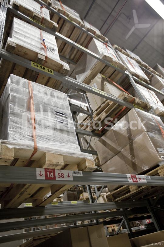 Modern warehouse shelves with pile of cardboard boxes  : Stock Photo or Stock Video Download rcfotostock photos, images and assets rcfotostock | RC-Photo-Stock.:
