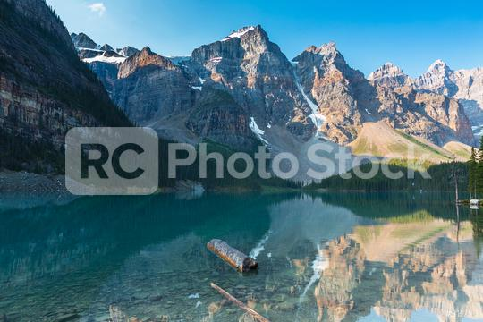 Moraine Lake at Sunrise Colorful Landscape in the banff national park canada  : Stock Photo or Stock Video Download rcfotostock photos, images and assets rcfotostock | RC-Photo-Stock.: