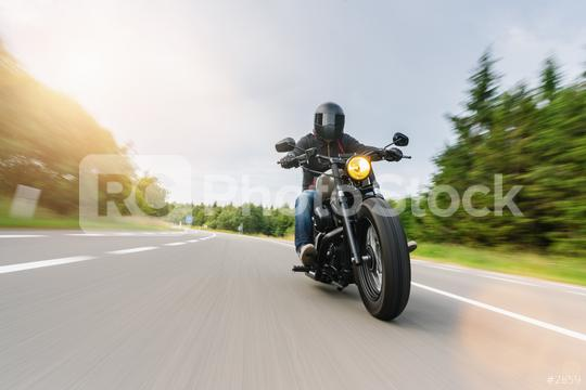 motorbike chopper on the country road riding at summer. having fun driving the empty road on a motorcycle tour. copyspace for your individual text.  : Stock Photo or Stock Video Download rcfotostock photos, images and assets rcfotostock   RC-Photo-Stock.: