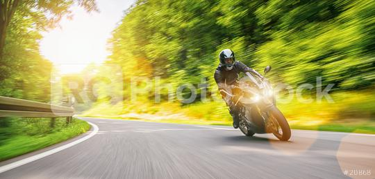 Motorrad auf Landstraße  : Stock Photo or Stock Video Download rcfotostock photos, images and assets rcfotostock | RC-Photo-Stock.: