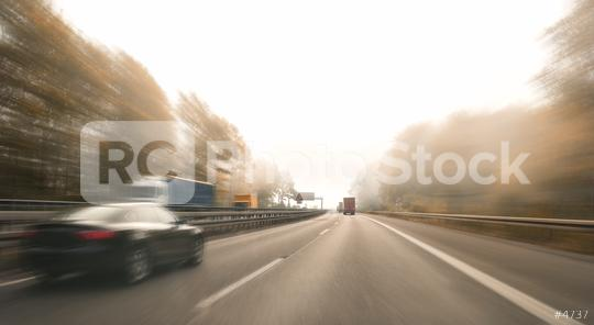 motorway, with limited traffic, on an autumn day  : Stock Photo or Stock Video Download rcfotostock photos, images and assets rcfotostock | RC-Photo-Stock.:
