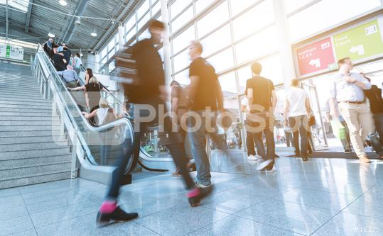 moving crowd at a trade fair  : Stock Photo or Stock Video Download rcfotostock photos, images and assets rcfotostock | RC-Photo-Stock.: