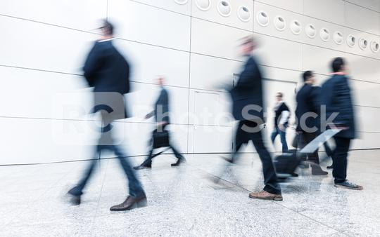 moving crowd in corridor at a International Trade Fair  : Stock Photo or Stock Video Download rcfotostock photos, images and assets rcfotostock | RC-Photo-Stock.: