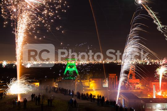 new year firework at Halde Hoheward  : Stock Photo or Stock Video Download rcfotostock photos, images and assets rcfotostock | RC-Photo-Stock.: