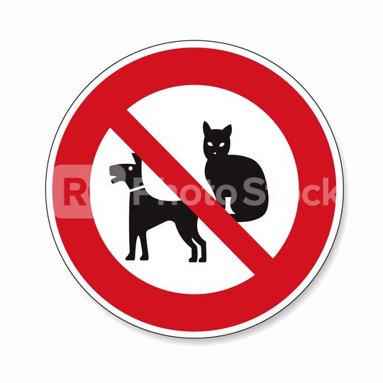 No Pets allowed. Dogs, Cats or pets not allowed in this area, prohibition sign on white background. Vector illustration. Eps 10 vector file.  : Stock Photo or Stock Video Download rcfotostock photos, images and assets rcfotostock | RC-Photo-Stock.: