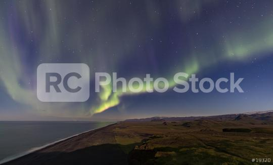 Nordlicht am Kap Dhyrolay, Island, Aurora Borealis  : Stock Photo or Stock Video Download rcfotostock photos, images and assets rcfotostock | RC-Photo-Stock.: