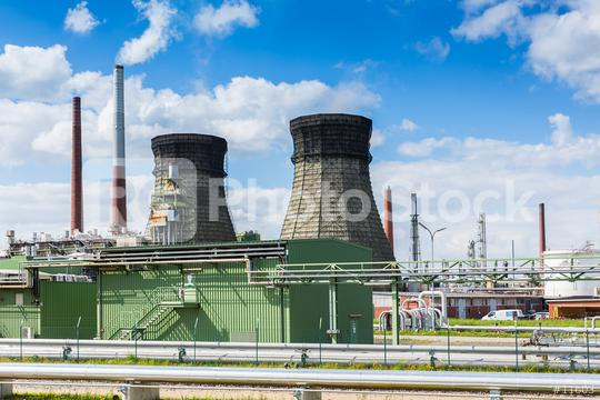 oil refinery with cooling Tower  : Stock Photo or Stock Video Download rcfotostock photos, images and assets rcfotostock | RC-Photo-Stock.: