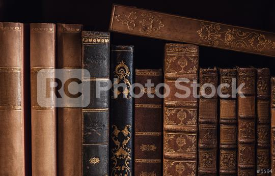 old Books in a bookshelf  : Stock Photo or Stock Video Download rcfotostock photos, images and assets rcfotostock | RC-Photo-Stock.: