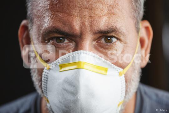 Old man wearing an anti virus protection mask to prevent others from corona COVID-19 and SARS cov 2 infection  : Stock Photo or Stock Video Download rcfotostock photos, images and assets rcfotostock   RC-Photo-Stock.: