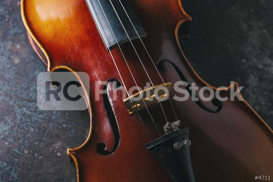 old Violin on dark background  : Stock Photo or Stock Video Download rcfotostock photos, images and assets rcfotostock   RC-Photo-Stock.: