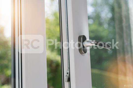 Opened white plastic window with sunlight  : Stock Photo or Stock Video Download rcfotostock photos, images and assets rcfotostock | RC-Photo-Stock.: