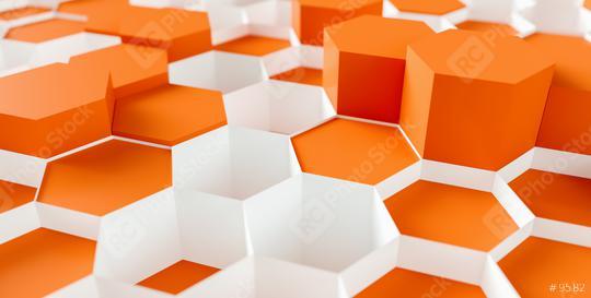 orange Hexagon Background - 3D rendering - Illustration   : Stock Photo or Stock Video Download rcfotostock photos, images and assets rcfotostock   RC-Photo-Stock.: