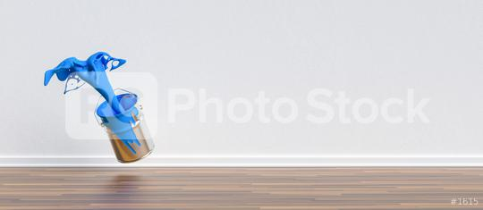 paint can splashing blue color in a apartment with wall and copy space for individual text, renovation concept image  : Stock Photo or Stock Video Download rcfotostock photos, images and assets rcfotostock   RC-Photo-Stock.: