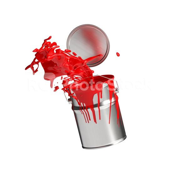 paint can splashing red bright color isolated on white background  : Stock Photo or Stock Video Download rcfotostock photos, images and assets rcfotostock | RC-Photo-Stock.: