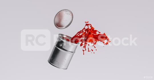 paint can splashing red bright color, renovation concept image  : Stock Photo or Stock Video Download rcfotostock photos, images and assets rcfotostock | RC-Photo-Stock.:
