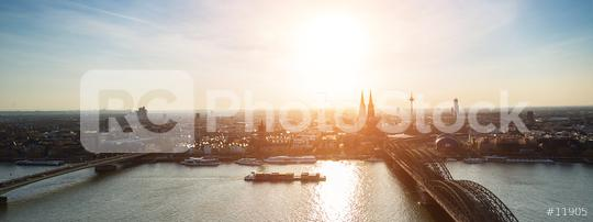 panoramic view of cologne city at dusk  : Stock Photo or Stock Video Download rcfotostock photos, images and assets rcfotostock   RC-Photo-Stock.:
