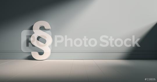 Paragrafen-Symbol an graue Wand gelehnt  : Stock Photo or Stock Video Download rcfotostock photos, images and assets rcfotostock | RC-Photo-Stock.:
