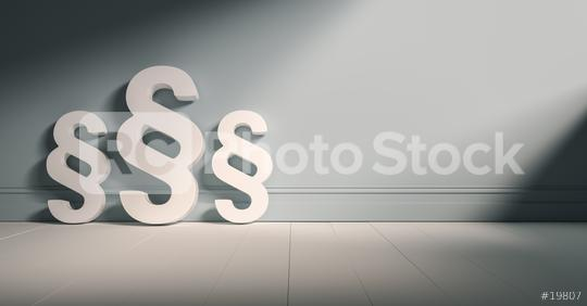 Paragrafen-Symbole an graue Wand gelehnt  : Stock Photo or Stock Video Download rcfotostock photos, images and assets rcfotostock | RC-Photo-Stock.: