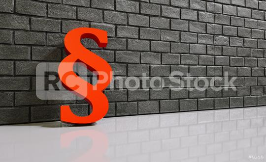 Paragraph against a brick wall  : Stock Photo or Stock Video Download rcfotostock photos, images and assets rcfotostock   RC-Photo-Stock.: