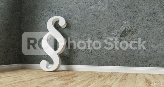 Paragraph in a corner on a wall - 3D Rendering  : Stock Photo or Stock Video Download rcfotostock photos, images and assets rcfotostock | RC-Photo-Stock.: