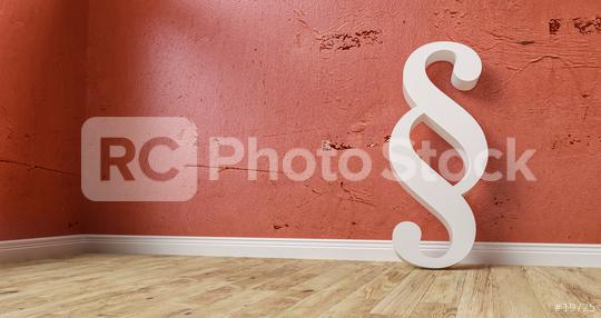 Paragraph smybol against a red wall - law and justice image - 3D Illustration  : Stock Photo or Stock Video Download rcfotostock photos, images and assets rcfotostock | RC-Photo-Stock.: