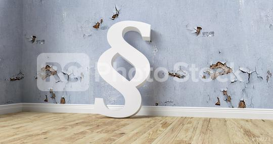 Paragraph smybol against a wall that needs a renovation - 3D Rendering  : Stock Photo or Stock Video Download rcfotostock photos, images and assets rcfotostock | RC-Photo-Stock.: