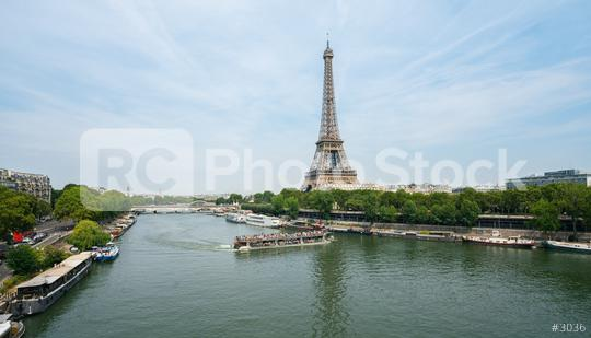Paris Eiffel Tower and river Seine  : Stock Photo or Stock Video Download rcfotostock photos, images and assets rcfotostock | RC-Photo-Stock.: