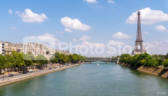 Paris Eiffel Tower and river Seine in Paris, France.  : Stock Photo or Stock Video Download rcfotostock photos, images and assets rcfotostock | RC-Photo-Stock.:
