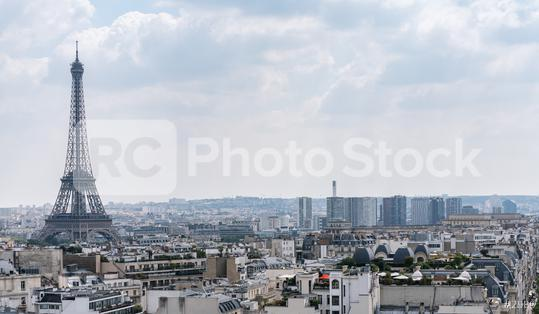 Paris Eiffel Tower with skyline, france  : Stock Photo or Stock Video Download rcfotostock photos, images and assets rcfotostock   RC-Photo-Stock.:
