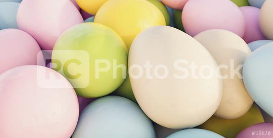 pastel colored easter eggs closeup - 3D Rendering  : Stock Photo or Stock Video Download rcfotostock photos, images and assets rcfotostock | RC-Photo-Stock.:
