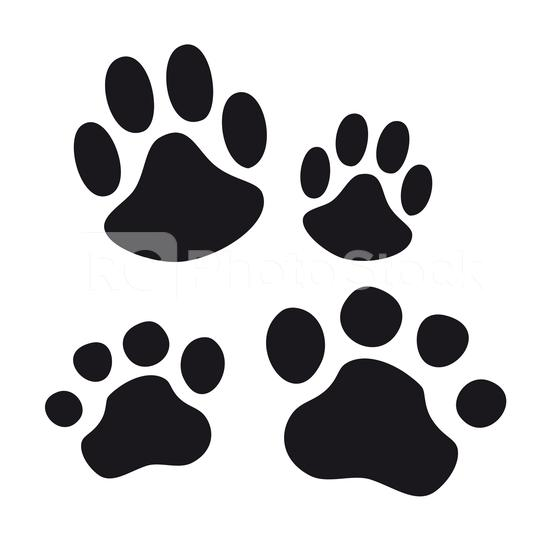 Paw Print set vector eps silhouette  : Stock Photo or Stock Video Download rcfotostock photos, images and assets rcfotostock | RC-Photo-Stock.: