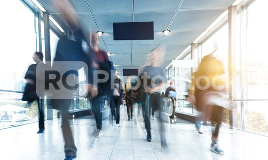 People in motion at a traidshow entrance   : Stock Photo or Stock Video Download rcfotostock photos, images and assets rcfotostock | RC-Photo-Stock.: