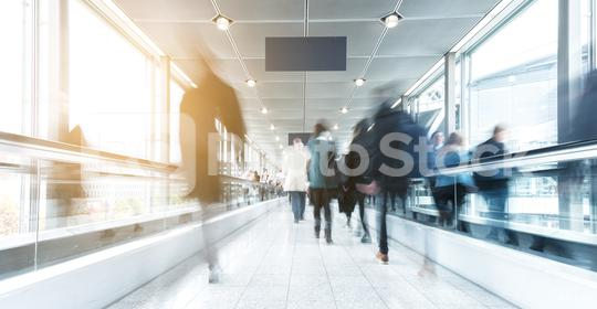people in rush at a walkway  : Stock Photo or Stock Video Download rcfotostock photos, images and assets rcfotostock | RC-Photo-Stock.: