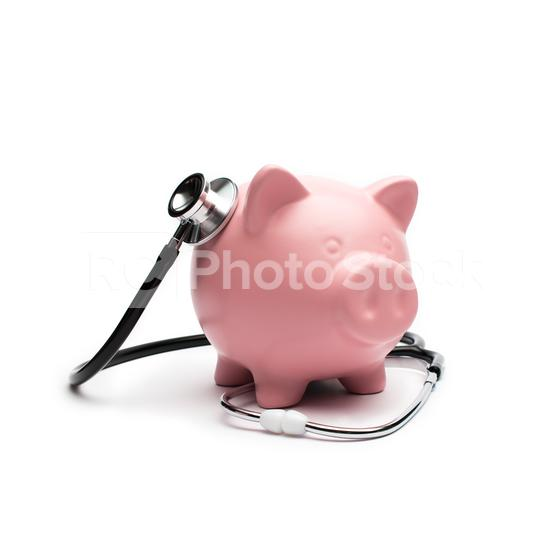 Piggybank and Stethoscope   : Stock Photo or Stock Video Download rcfotostock photos, images and assets rcfotostock   RC-Photo-Stock.: