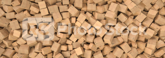 Pile of cardboard boxes background header, logistics and delivery concept image  : Stock Photo or Stock Video Download rcfotostock photos, images and assets rcfotostock   RC-Photo-Stock.: