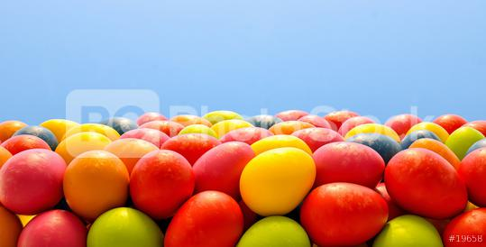 pile of Colorful easter eggs background, including copy space - 3D Rendering Illustration  : Stock Photo or Stock Video Download rcfotostock photos, images and assets rcfotostock | RC-Photo-Stock.: