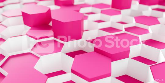 pink beauty Hexagon Background - 3D rendering - Illustration   : Stock Photo or Stock Video Download rcfotostock photos, images and assets rcfotostock | RC-Photo-Stock.:
