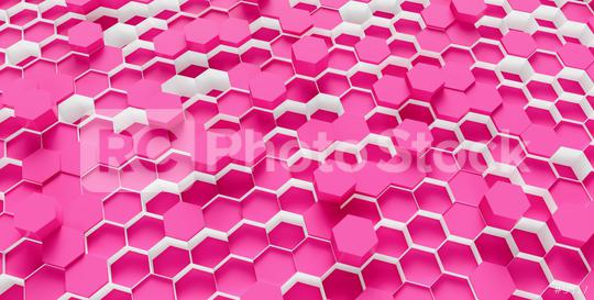 pink Hexagon Background - 3D rendering - Illustration   : Stock Photo or Stock Video Download rcfotostock photos, images and assets rcfotostock | RC-Photo-Stock.: