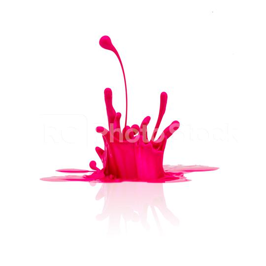 pink paint splash isolated on white  : Stock Photo or Stock Video Download rcfotostock photos, images and assets rcfotostock | RC-Photo-Stock.: