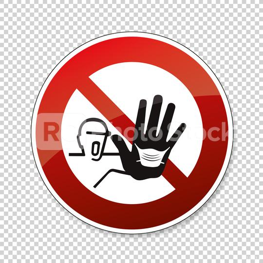 please wear a face mask or makeshift mask for coronavirus pandemic, prohibition sign, on checked transparent background. Vector illustration. Eps 10 vector file.  : Stock Photo or Stock Video Download rcfotostock photos, images and assets rcfotostock | RC-Photo-Stock.: