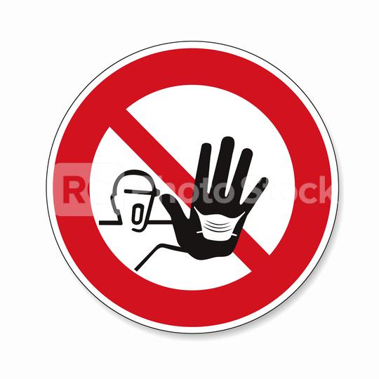 please wear a face mask or makeshift mask for coronavirus pandemic, prohibition sign, on white background. Vector illustration. Eps 10 vector file.  : Stock Photo or Stock Video Download rcfotostock photos, images and assets rcfotostock | RC-Photo-Stock.:
