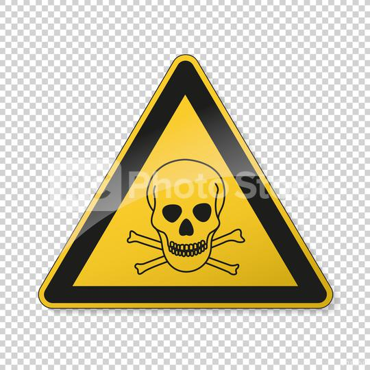 Poison warn sign with skull and crossbones. Safety signs, warning Sign or Danger symbol BGV hazard pictogram, Deadly danger sign. skull and crossbones for toxic on transparent background. Vector EPS10  : Stock Photo or Stock Video Download rcfotostock photos, images and assets rcfotostock | RC-Photo-Stock.: